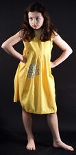 VICTORIAN PINNY Annie/Workhouse/Orphan/Servant-Yellow Smock Patched FANCY DRESS