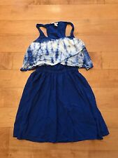 FOREVER 21...Women's DRESS. Sz. Small. Blue Tie Dye Top. Cut out Back (see pics)