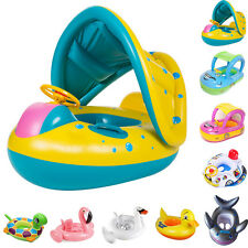Child Kid Toddler Swimming Pool Water Sport Seat Inflatable Float Ring Boat.cc