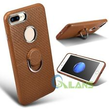 Genuine ICARER Real Cowhide Leather Back Case With Ring Holder For iPhone 7 Plus