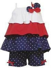 RARE EDITIONS PATRIOTIC 4TH JULY Tiered Ruffle Shirt and Capri - baby dress