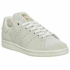 Adidas Stan Smith Off White Womens Trainers Suede Leather
