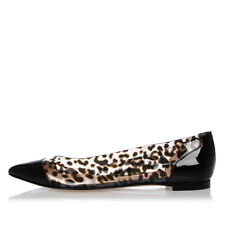 GIANVITO ROSSI New Woman PLEXI Leo Printed Ballet flat Shoes NWT Made in Italy
