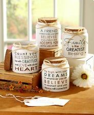 Count Your Blessings Jars Friendship Family Blessings Dreams Signs Ceramic Cork