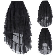 'Chiffon Victorian Gothic Prom Party Costume Steampunk Maxi Skirt,Bustle Dress