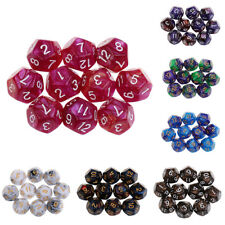 10PCS D12 Polyhedral Dice 12 Sided Dice for Dungeons and Dragons DND RPG MTG