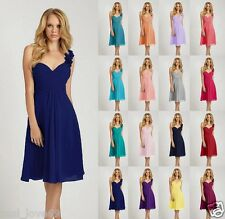 New One Shoulder Short Formal Ball Gowns Party Prom Bridesmaid Dress Size 6-18