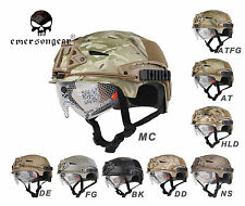 Airsoft Hunting Combat Tactical Helmet Emerson EXF BUMP Helmet with Goggle