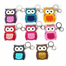 Faux Leather Owl Key Ring Chain Kiss Lock Coin Purse Wallet Holder Bag Charm New