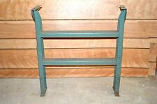 VTG Salvage INDUSTRIAL Metal WORK Bench LEGS STEAMPUNK TABLE Base FRAME Stand
