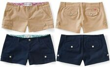 AEROPOSTALE WOMENS KHAKI SHORTS NAVY KHAKI TAN NWT ALL SIZE MSRP $42.50