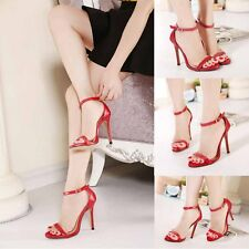 NEW Women Fashion Stiletto Strap Shoes Strappy Ankle High Heel