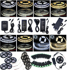5M 10M 20M 30M 3528SMD 5050SMD LED Non / Waterproof Flexible Strip light+Adapter