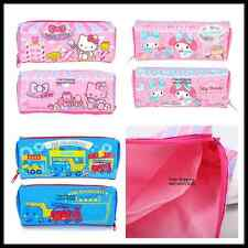 GENUINE SANRIO HELLO KITTY MY MELODY RB NYLON PENCIL BAG ZIPPER BAG POUCH 6738