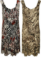 New Womens Plus Size Floral Animal Print Lace Lined Ladies Long Maxi Dress 14-28
