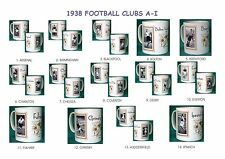 FOOTBALL 1938.TEAMS A-I... MUGS..14  DESIGNS.NEW.BNIB