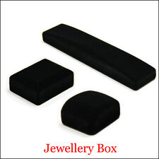 Black Velvet Flock Jewellery Box Necklace Pendant Ring Bangle Gift Display Boxes