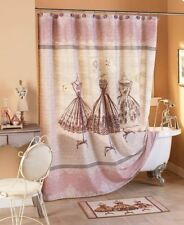 Vintage Couture Bathroom Collection Girl Pink Pretty Bath Shower Curtain Ladies