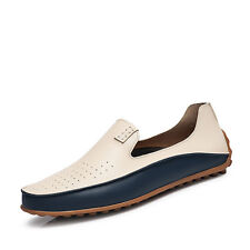 Fashion Mens Driving Moccasin Loafer Casual Comfy Soft Leather Slip-on Shoes