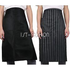 Unisex Kitchen Cooking Waist Short Apron with Pocket Fr Chef /Cook/Waiter/Server