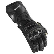 High Racer Motorcycle CE Approved Textile Kangaroo Leather Racing Gloves Black