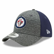 New Era Winnipeg Jets Heathered Gray/Navy Shadow Blocker 39THIRTY Flex Hat
