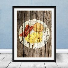 Ron Swanson Breakfast Poster Bacon Eggs Parks & Recreation Prop Gift Wood Art