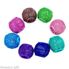Wholesale Lots Gifts Mixed Mesh Spacer Beads Fit Charm Bracelet 12x10mm