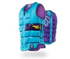 Liquid Force MELODY Ladies Watersports Impact Vest large Aqua Purple 48875