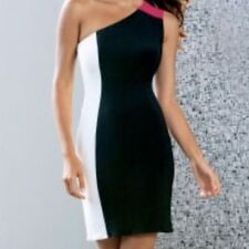 $119 NEW BOSTON PROPER  MAGGY LONDON One Shoulder Color Block Dress 2 6