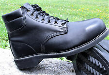 Bates Black Safety Military Leather Work Boots US Army USA Made Steel Toe New GI