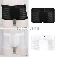 See-Through Mesh Shorts Boxer Briefs Sheer Trunk Underwear Sexy Lingerie for Men