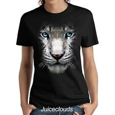 White Tiger Ladies Shirt Big Tiger Face Wild Big Cat Mountain Women's Tee