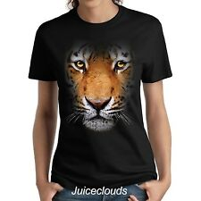 Tiger Ladies Shirt Big Tiger Face Wild Big Cat Jungle Mountain Women's Tee