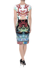 ROBERTO CAVALLI NEW WOMAN Multicolor Printed sleeveless Dress Made in Italy