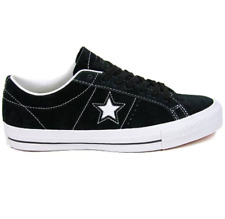 CONVERSE ONE STAR PRO LOW TOP SKATE OX BLACK WHITE MENS CASUAL SUEDE SHOES