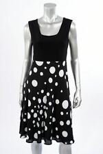 Sleeveless Black Polka Dot Dress Joseph Ribkoff 171621 Spring 2017 Retail $210