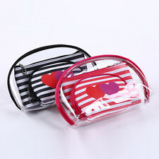 3pcs PVC Clear Cosmetic Bags Set Makeup Bags Waterproof Pouch Travel Wash Bags