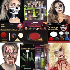 Halloween Party Fancy Dress Face Paints Skeleton Zombie Ghost Make up Kit Blood