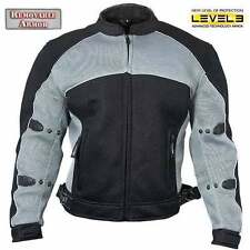 Xelement Mens CF511 Black Mesh level-3 Armored Padded Sport Motorcycle Jacket