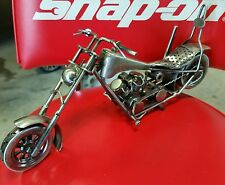 Custom Harley Davidson Motorcycle Desk Art Nuts & Bolts Chopper INDIAN OCC Ness