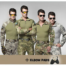 Tactical Military Army Resistant Combat Long Sleeve SHIRT with Detachable Elbow