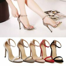 Womens Ankle Strap Strappy Stiletto Cuff Toe High Heel Sandals Shoes Sexy 2017