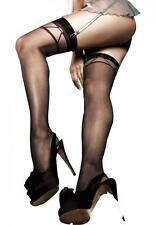 Womens Lingerie Jacquard Thigh High Stockings Black Package Of 3