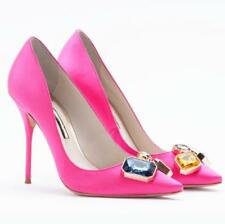 Rhinestone Evening Shoes Woman High Heels 10CM Wedding Heels Rose Red Women
