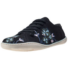 Camper Peu Cami Twins Embroidery Womens Shoes Black Floral New Shoes