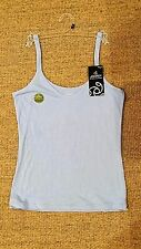 New Ladies Jockey Ultra Soft Cami Camisole Singlet Top Vest Blue, Sizes 12, 14