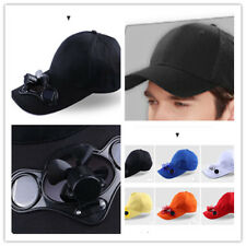 Sport Hat Cap with Solar Sun Power Cool Cooling Fan For Cycling Hiking FE NEW