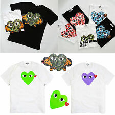 Comme Des Garcons CDG Play Newest A Bathing Ape T-shirts Short Sleeve FOR Unisex