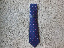 Mens Neck Tie-Club Room from Macy's-Classic- Silk-  Navy Blue   Retail $50  NWT